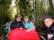 A rickshaw ride in the Bamboo Forest of Sagano