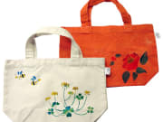 A fabulous hand-decorated eco-bag.