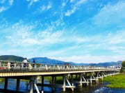 Crossing the Togetsukyo Bridge