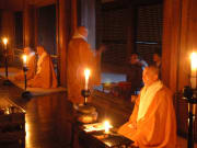 Praying with the monks at Ninnaji Temple