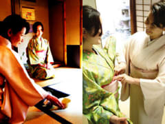 Kimono and tea ceremony in Kyoto