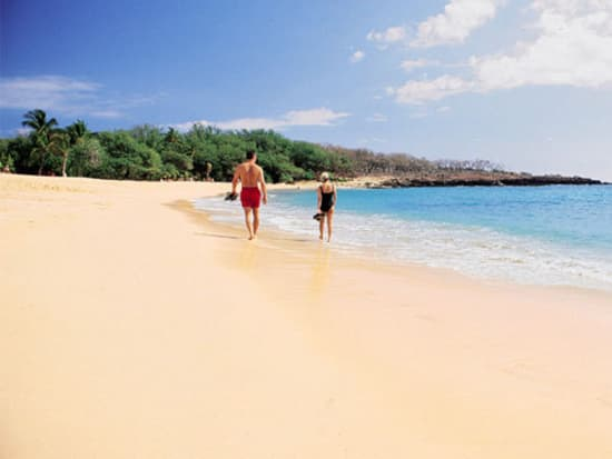 Enjoy A Beautiful White Sand Beach On Lanai