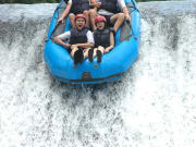 group on rafting adventure in bali indonesia