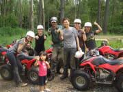 ATV Quad Bike Tour women with two thumbs up photo