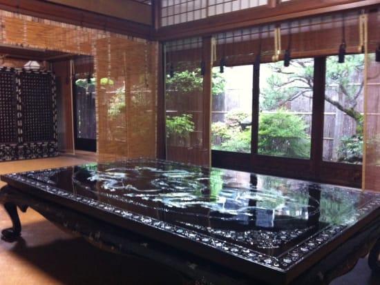 Inside a traditional Kyoto machiya