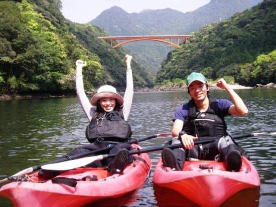 Kayaking fun on a Yakushima river