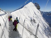 Titlis Cliff Walk, swiss alps, bridge, winter