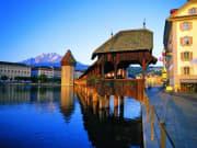 Kapellbrucke, Lucerne, swiss alps, switzerland