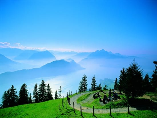 mount rigi day tour from zurich with cable car tickets and boat