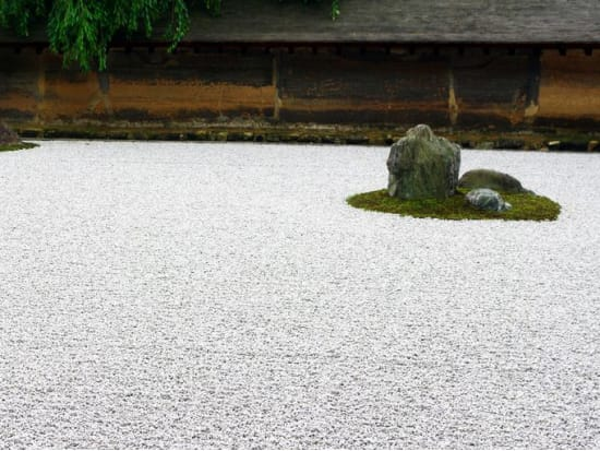 The rock garden of Ryoanji Temple
