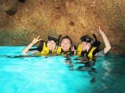 Blue Cave snorkel adventure time