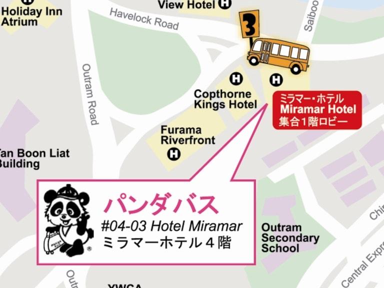 ミラマーホテル地図