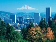 Portland Cityscape Mt. Hood