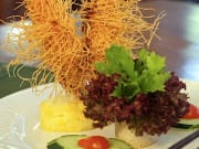 Chef Chai's Signature  Kataifi and Macadamia Nutt Crusted Jumbo Black Tiger Prawns