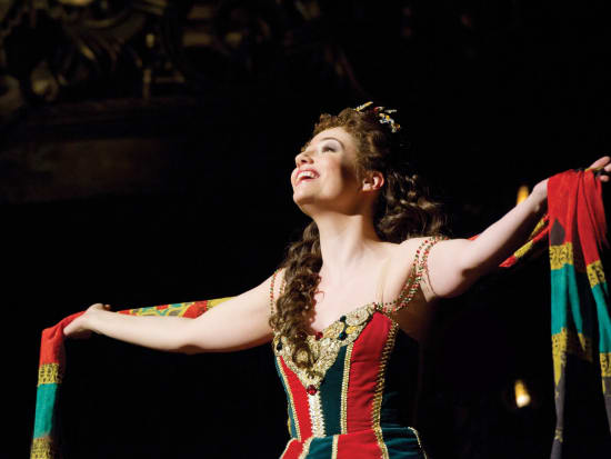Sofia Escobar as Christine in The Phantom of the Opera. Photo Credit Alastair Muir