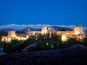 1. Alhambra de noche desde Mirador San Nicolás