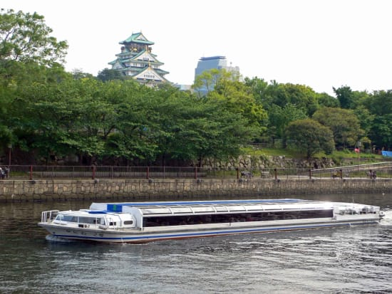 ⑥アクアライナーと大阪城