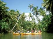 4 yellow kayaks