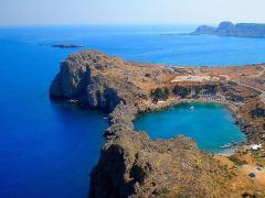 ロドス島の遺跡リンドスからの景色