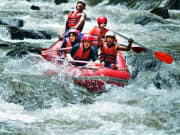 white water rafting in ayung river indonesia