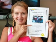 woman with skydiving certificate australia