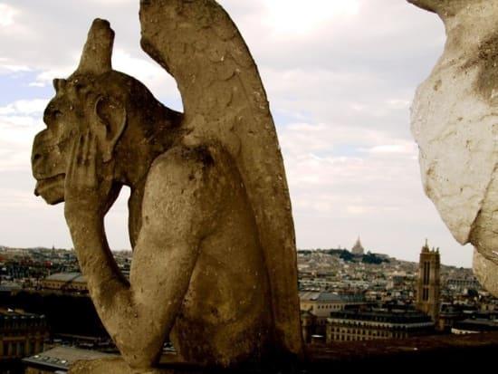 パリの街を見おろす