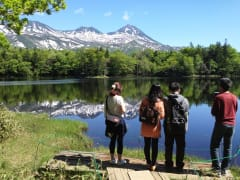 Trekking along the Shiretoko Goko Lakes
