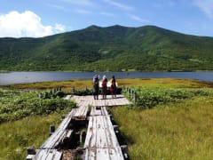 Lake Rausu, with Mt. Rausu in the background