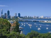 swan river seen from kings park