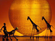 Lion King stage set