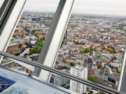 View from panoramic floor Berlin TV Tower