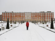 Hampton Court Palace in snow