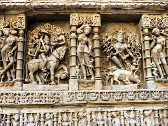 Sculptures of Vishnu in Rani ki Vav