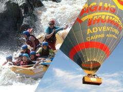 cairns hot air balloon barron river rafting