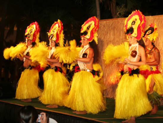 Tahitian Dancers Shake And Shimmy At The Luau
