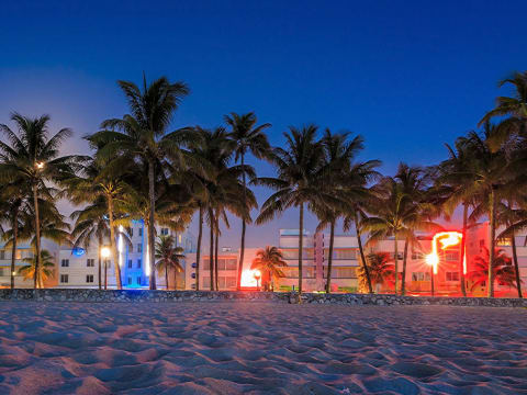 砂浜からマイアミ