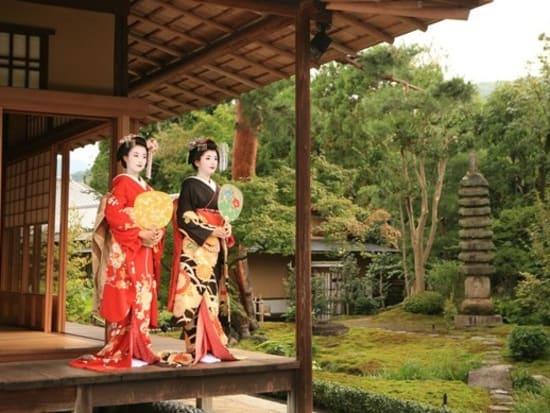 Maiko photo shoot at a garden
