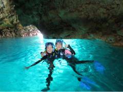 blue cave okinawa