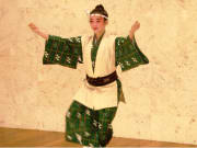 Traditional Okinawan folk dancer