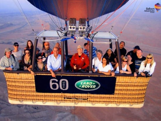 Tourists on Board the Hot Air Balloon