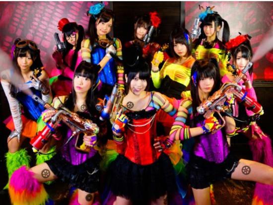 Steamgirls, a brightly steampunk girl idol group