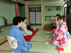 A classic Japanese tea ceremony