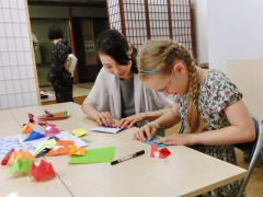 Learning origami in Tokyo