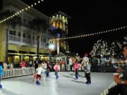 Celebration Town Center has lots of holiday events including snow fall and ice skating