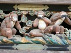 The famous three monkeys of Nikko