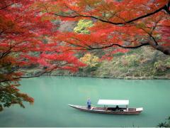 Cruising down the Hozu River