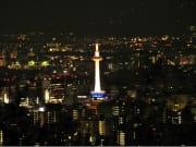 Kyoto lit up at night