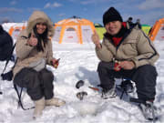 Ice fishing on the Barato River