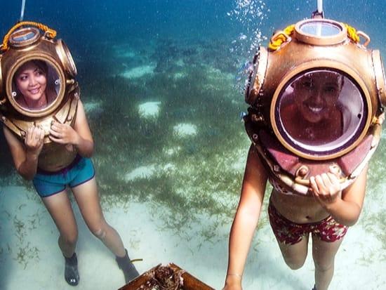 helmet diving mactan