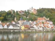 ハイデルベルクと古城と山街道hirschhorn3